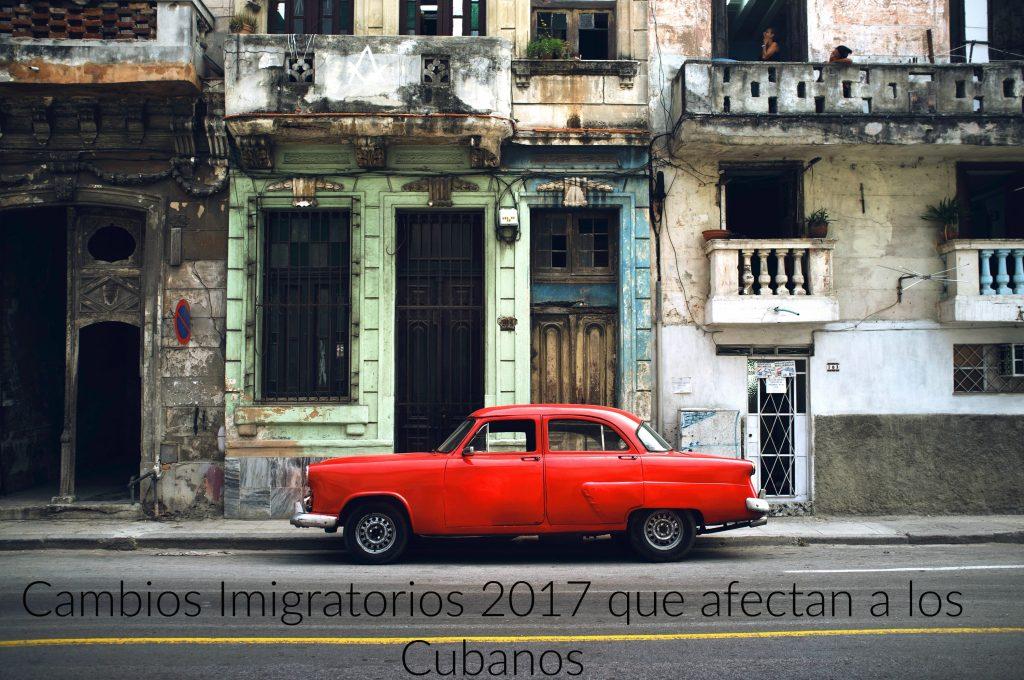 """Cambios de Inmigracion para los ciudadanos cubanos - Cuban policy """"wet foot - dry foot"""" is gone."""